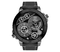 Time Skeleton Quarz Uhr mit Leder Armband SO-3369-LQ