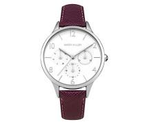 Damen Analog Quarz Uhr mit Leder Armband KM155V