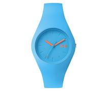 ICE chamallow Neon blue - Blaue Damenuhr mit Silikonarmband - 001148 (Medium)