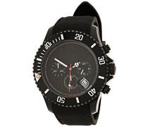 - ICE Chrono matte Black - Schwarze Herrenuhr mit Silikonarmband - 013713 (Large)