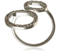 Ring Embrace Versilbert Kristall Grau Rundschliff 3.0 cm - 181546104
