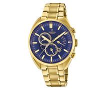 Chronograph Quarz Uhr mit Edelstahl Armband F20267/2