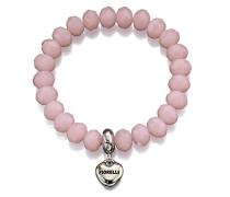 FASHIONNECKLACEBRACELETANKLET Rundschliff pink/rosa Verre