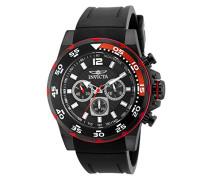 20030 Pro Diver Uhr Edelstahl Quarz schwarzen Zifferblat