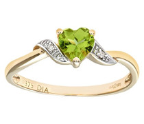 Damen-Ring 9 Karat 375 Gelbgold Diamant