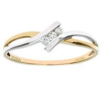 Ring 375 Gelbgold 9 K Saphir Diamant PR08897YW-L