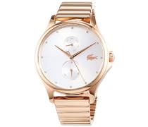 Multi Zifferblatt Quarz Uhr mit Edelstahl Armband 2001027