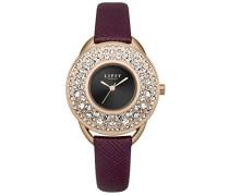 Datum klassisch Quarz Uhr mit PU Armband LP534