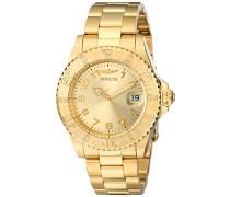 15249 Pro Diver Uhr Edelstahl Quarz goldenen Zifferblat
