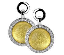 Ohrhänger 925 Sterling Silber rhodiniert Glas Zirkonia weiß ZO-5202