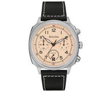 Armbanduhr Military Chronograph Quarz Leder 96B231