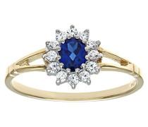 Ring, Gold 375/1000, Zirkonoxid, 49 (15.6)