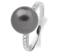 Damen-Ring Tahiti-Zuchtperle Grau