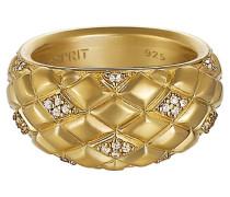 Ring 925 Sterling Silber rhodiniert Kristall Zirkonia lattice glam gold weiß