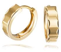 Creolen diamantiert 375 Gelbgold Ohrringe Schmuck