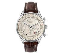 Chronograph Quarz Uhr mit Leder Armband 1563.27