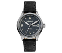 The Bateman Automatic Watch with Schwarz Dial and Schwarz Leather Strap I01802