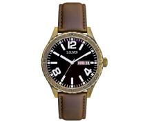 Armbanduhr XL Analog Quarz Leder SO-2830-LQ