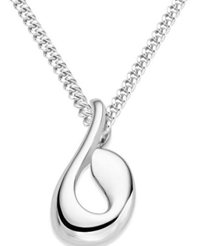 Anhänger 925 Sterling Silber Halskette mit Anhänger 45 cm 925 Silber rhodiniert