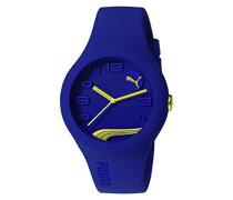 Armbanduhr PU-FORM BLUEBERRY GOLD Analog Quarz Silikon PU103001016