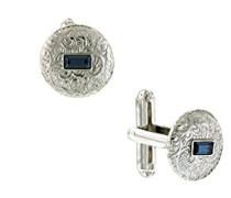Manschettenknöpfe Kristall Blau 1.524 cm - 65525