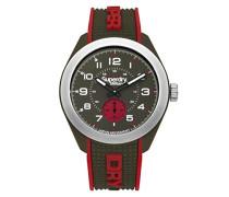 Analog Quarz Uhr mit Silikon Armband SYG214N