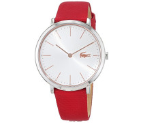 Datum klassisch Quarz Uhr mit Stoff Armband 2000998