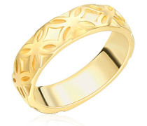 Ring gelbvergoldet 925 Silber teilvergoldet