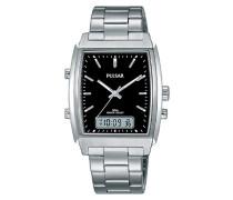Armbanduhr Analog - Digital Quarz Edelstahl PBK031X1