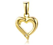 Anhänger mit Herz Gelbgold 18 Karat / 750 Gold Diamant Brilliant