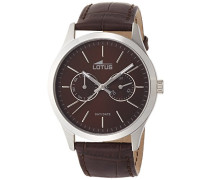 Herren-Armbanduhr XL Analog Quarz Leder 15956/2