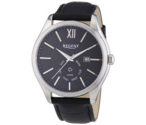 Herren-Armbanduhr XL Analog Quarz Leder 11110652