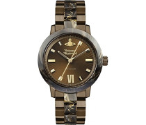 Analog Quarz Uhr mit Edelstahl Armband VV165BRBR