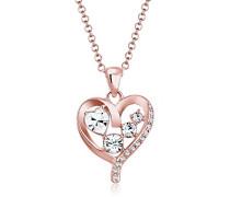 Halskette Herz 925 Sterling Silber Rose Swarovski Kristalle 0110120317_45