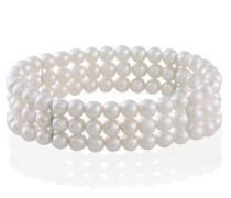 Armband 3-reihig 102 weiße Süßwasserperlen Pe_A06163S Schmuck