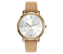 Analog Quarz Smart Watch Armbanduhr mit Leder Armband ES109532001