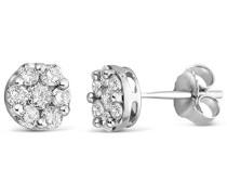9 Karat (375) Weißgold 0.50ct Diamant Ohrstecker Weiß Piqué ET6031