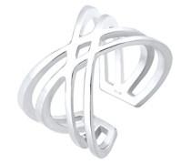 Ring Kreuz Filigran Geo Trend Blogger silber 925 Größen verstellbar