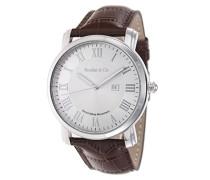 Armbanduhr Quarz Schweizer Werk Analog Leder Braun - BC15SA5