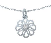 Halskette 925 Sterling Silber Zirkonia weiß ZH-6017