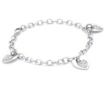 Armband Sogno Edelstahl mit weißen Kristallen SUI08