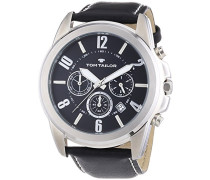 Herren-Armbanduhr XL Analog Quarz Leder 5413501