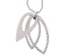 TJ0714 Damen-Halskette mit Anhänger, Edelstahl