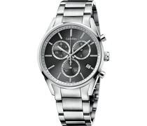 Analog Quarz Uhr mit Edelstahl Armband K4M27143