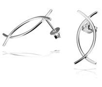 Damen-Ohrstecker semicircle 925 Sterlingsilber
