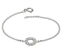 Armband Sterling-Silber, Motiv: Keltischer Kranz, Länge 17,8–18