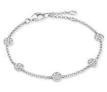 Armband Glam & Soul 925 Sterling Silber weiß Länge von 16.5 bis 19.5 cm A1330-051-14-L19