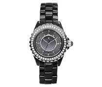 Armbanduhr Analog Quarz Premium Keramik Diamanten - STM15E1