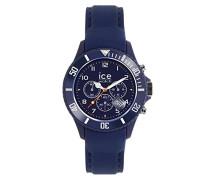 ICE Chrono matte Blue - Blaue Herrenuhr mit Silikonarmband - 013714 (Large)