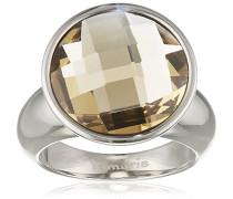 Damen-Ring Jane Edelstahl Glas braun